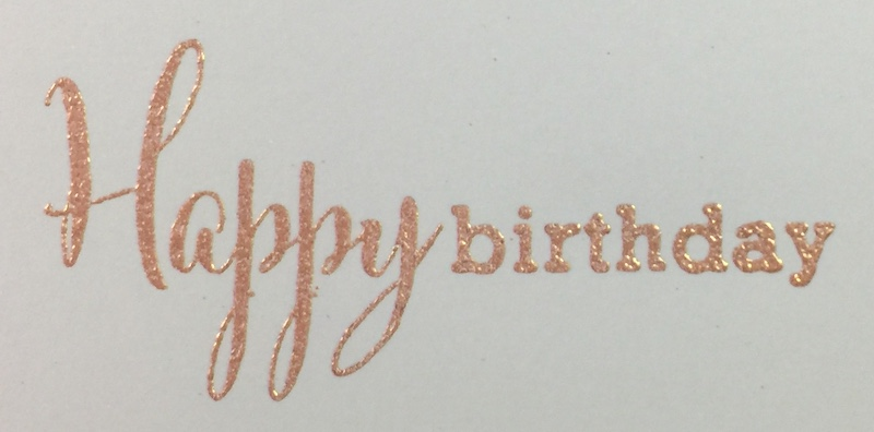 Rose Gold Ink + Rose Gold Embossing Powder