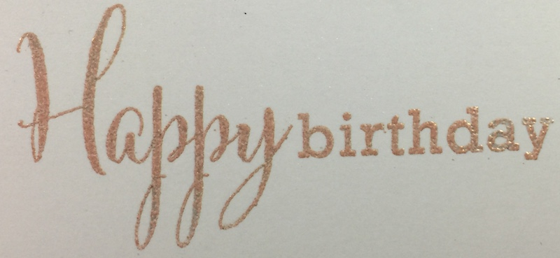 VersaMark Ink + Rose Gold Embossing Powder